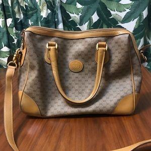 Vintage Gucci coated Canvas GG Monogram Handbag